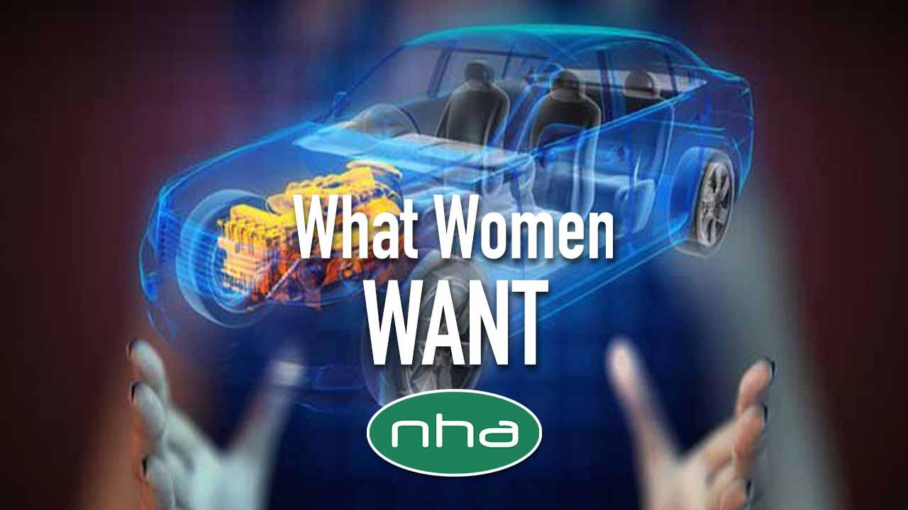 Women holding transparent car