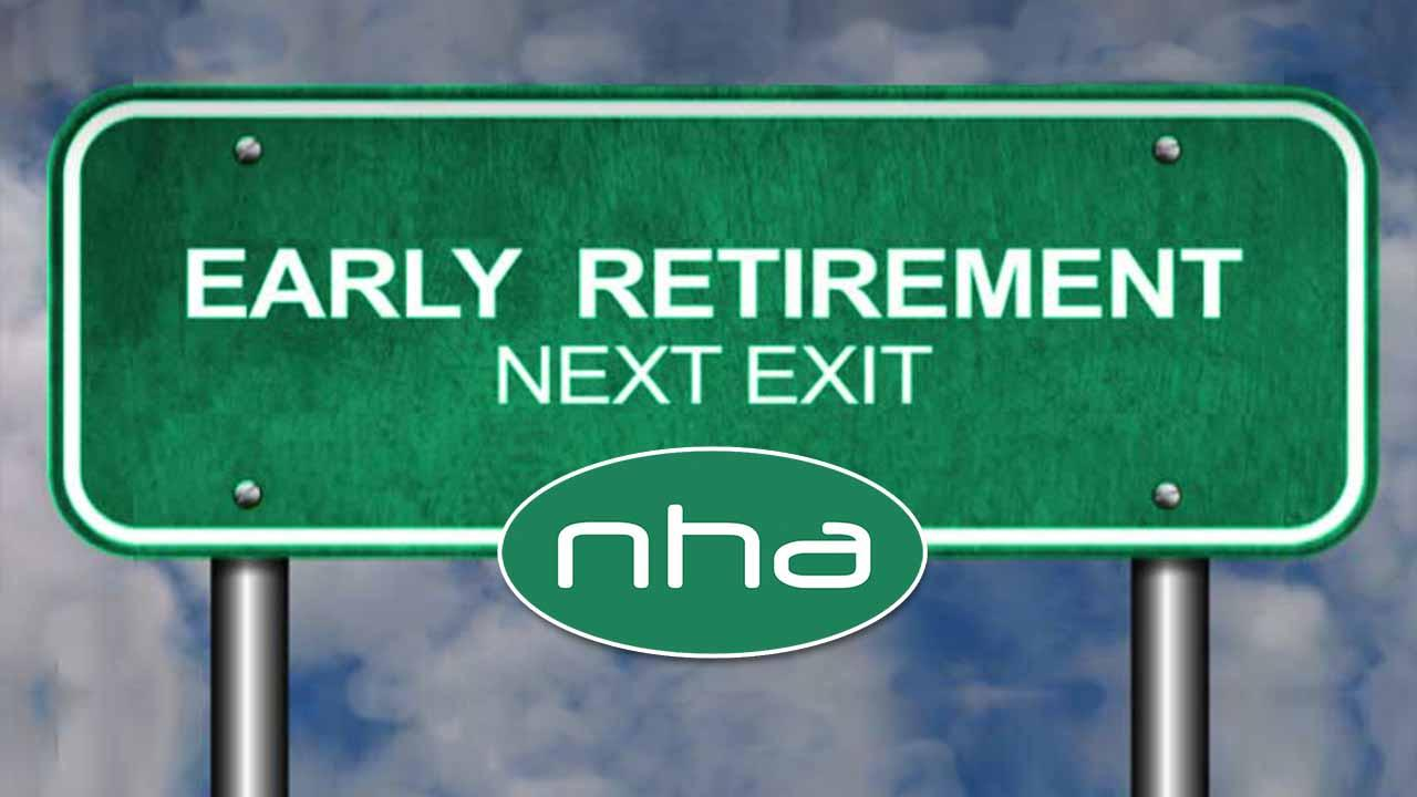 North Hills Automotive editorial image: Early Retirement Next Exit sign.