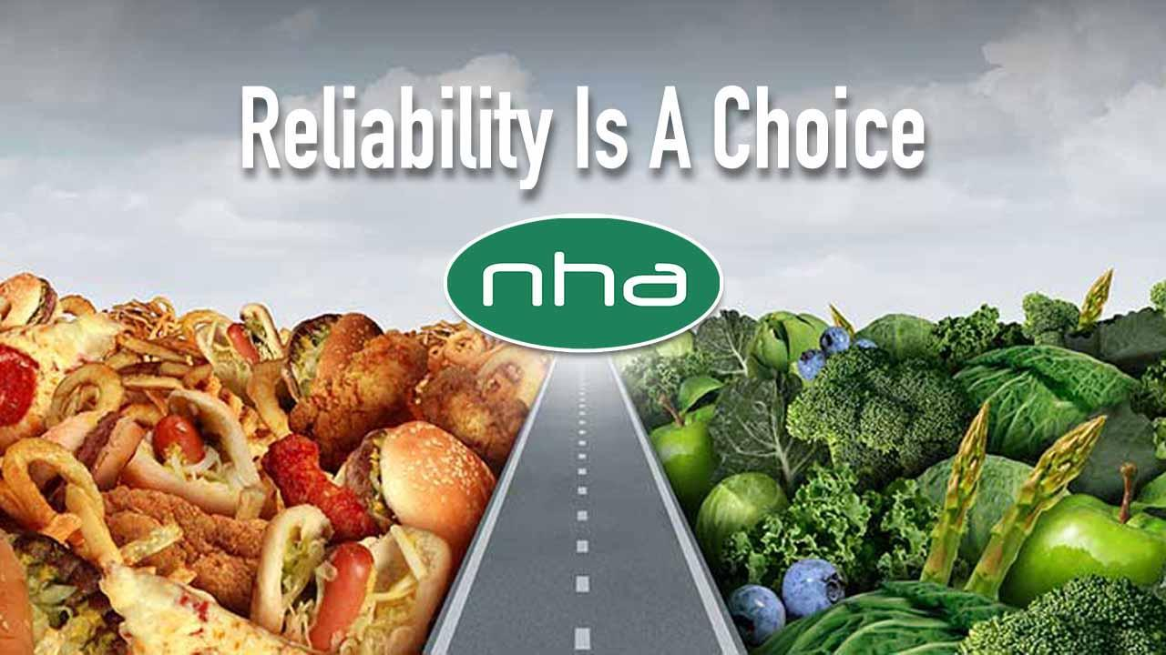 North Hills Automotive editorial image of a road dividing healthy food choices from unhealthy foods