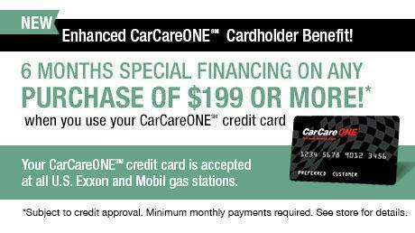 CarCareONE Card North Hills Automotive - 6 months same as cash financing